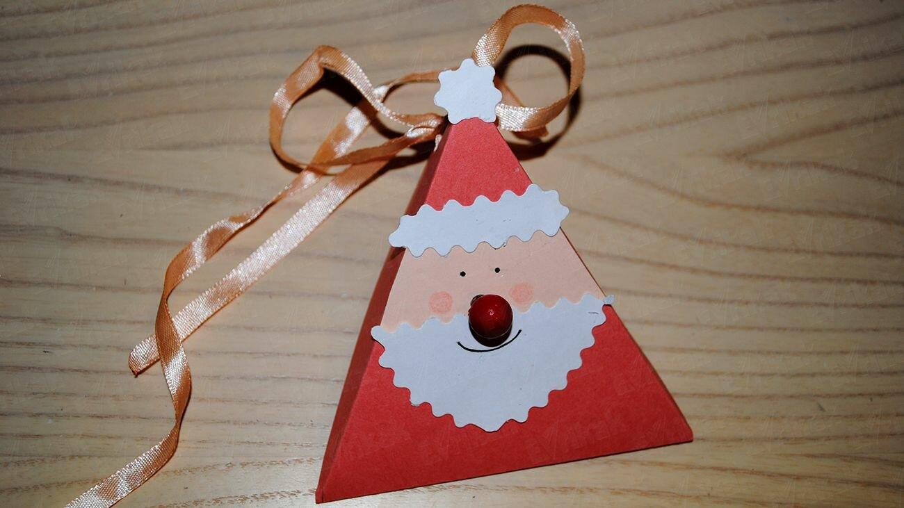 Comment réaliser une boîte cadeau « Père Noël » en carton : Instructions étape par étape avec les images