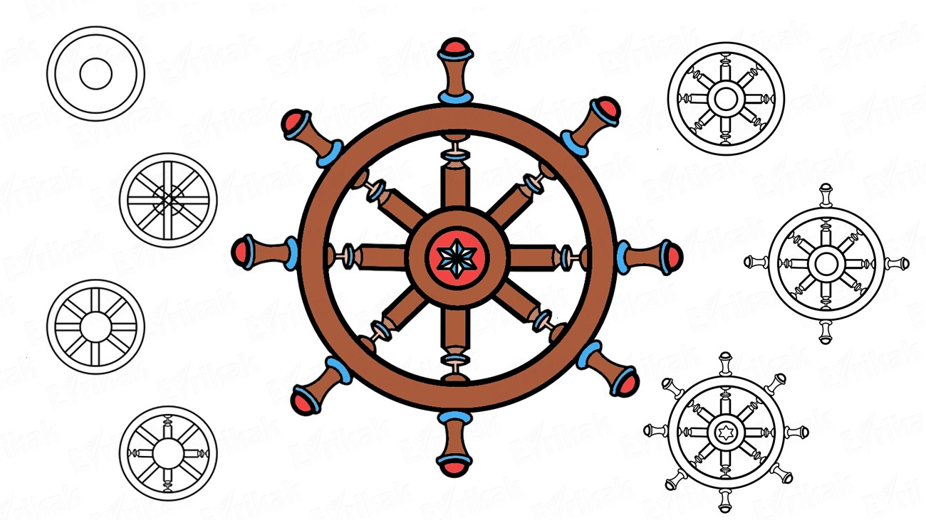 Comment dessiner la barre d'un bateau (+ Coloriage)