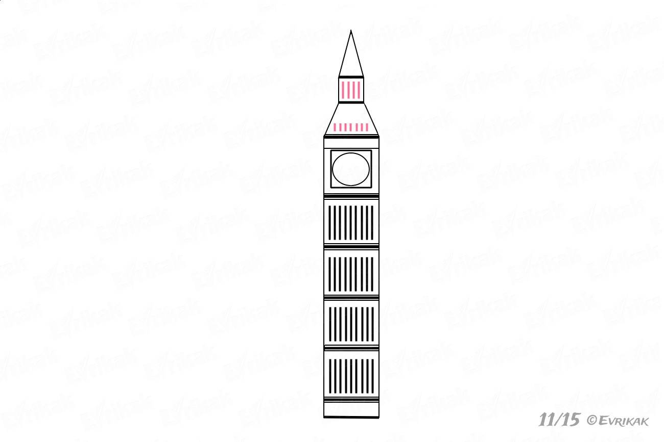 Comment Dessiner Big Ben Au Crayon Par étapes