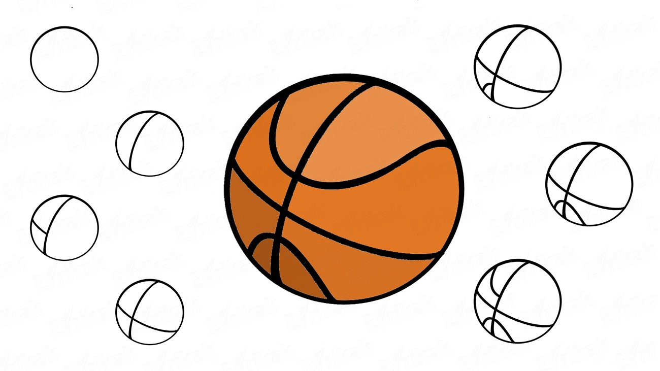 Comment dessiner un ballon de basket (+ Coloriage)
