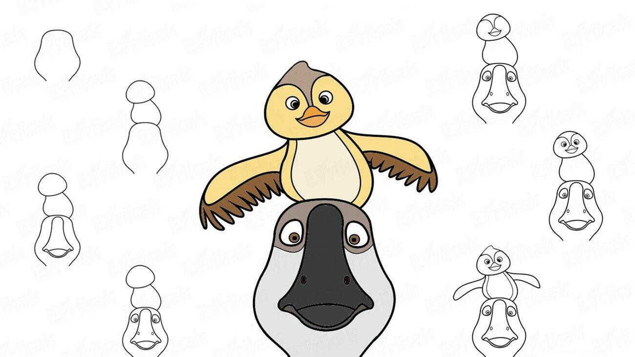 Apprenons à dessiner Peng et Chao avec votre enfant (+ Coloriage)