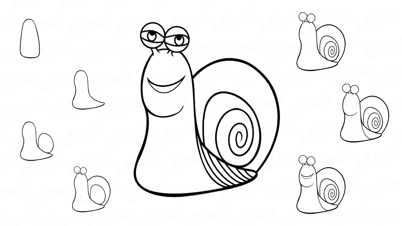 "Apprenons à dessiner l'escargot du dessin animé ""Turbo"" (+ Coloriage)"
