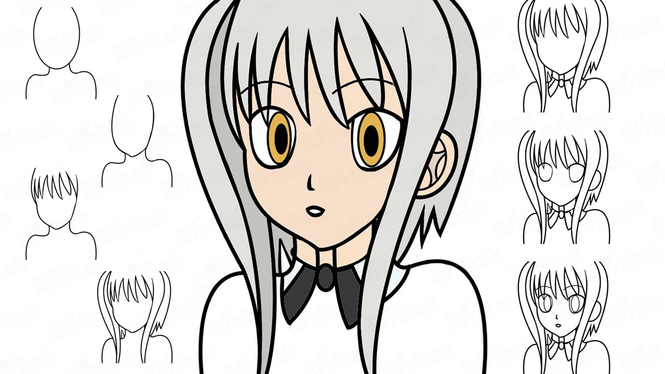 Apprenons à dessiner Koneko Tôjô au crayon (+ Coloriage)