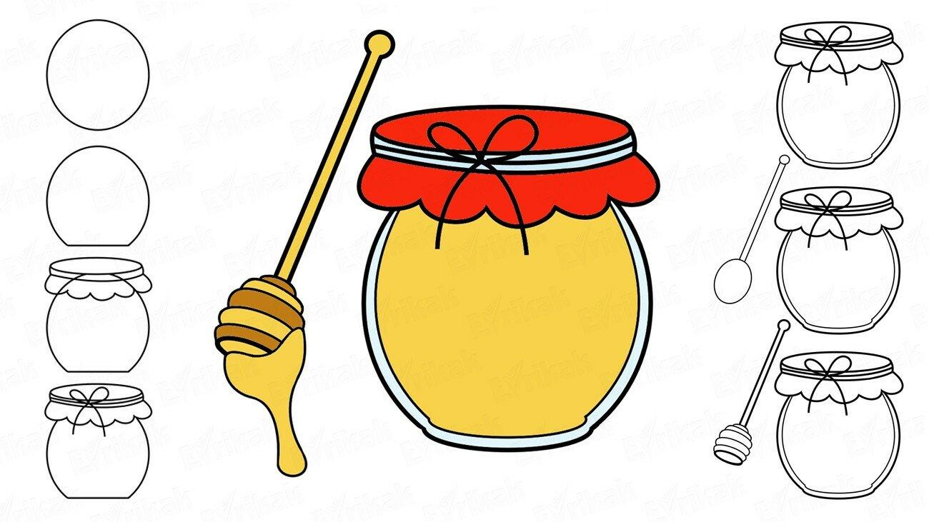 Comment dessiner un pot de miel ?