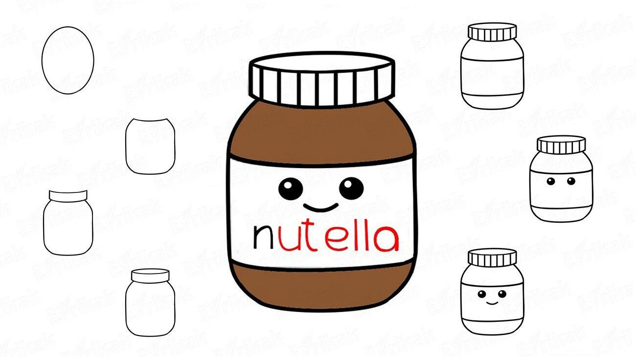 Comment dessiner Nutella par étapes ?