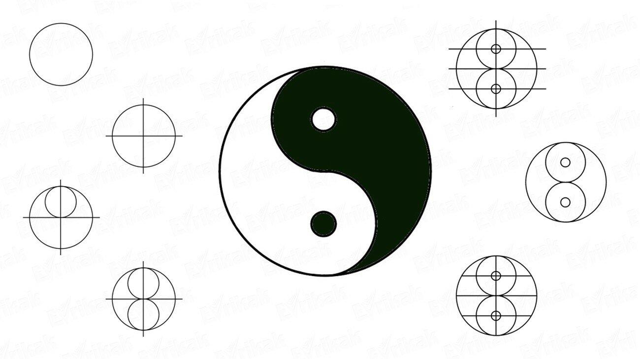 Apprenons à dessiner le symbole Yin Yang !