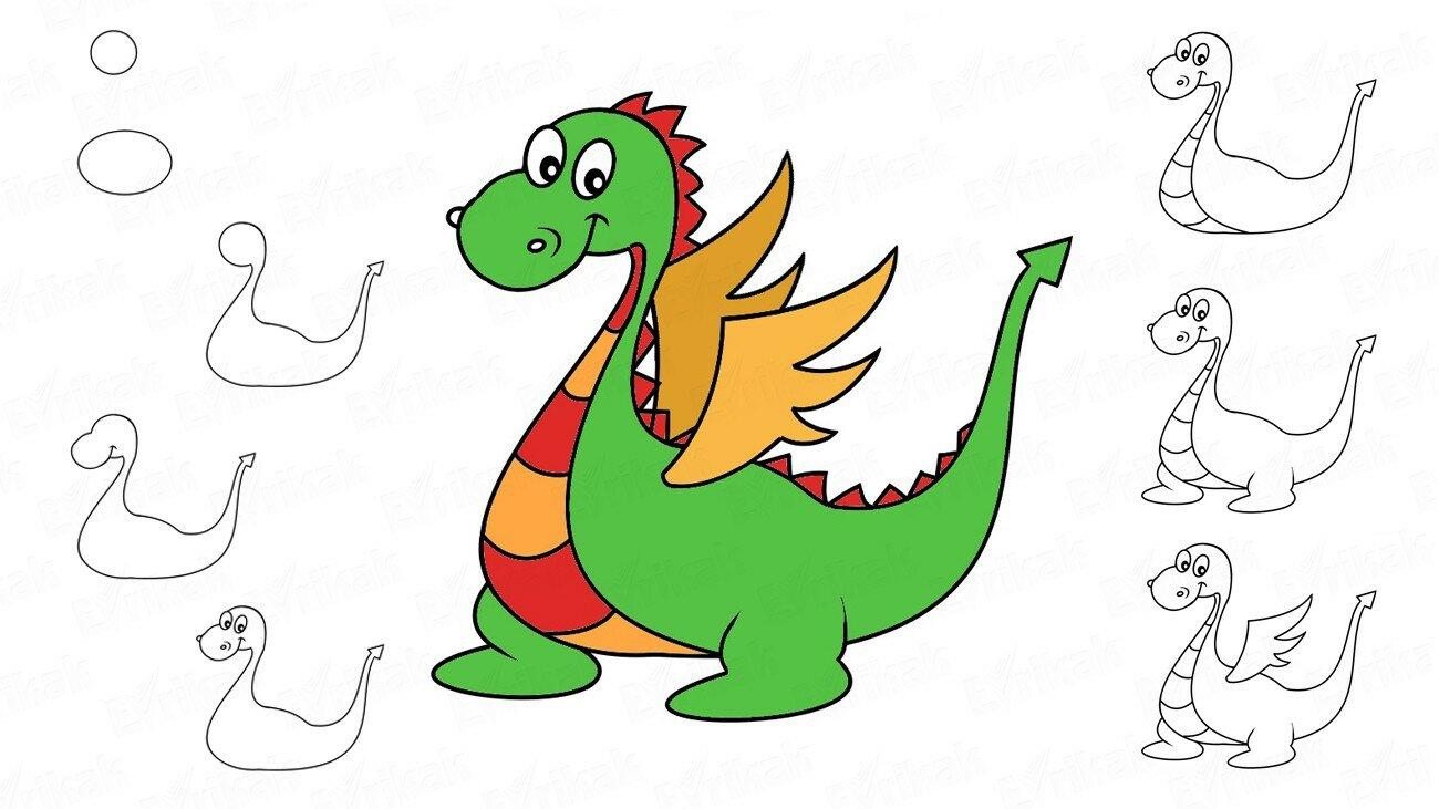 Apprenons à dessiner un dragon pas à pas !